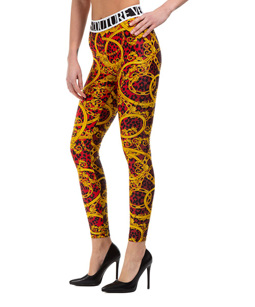 Legging Versace Jeans Couture leo chain ED5HVA162-ES0642_E537 rosso