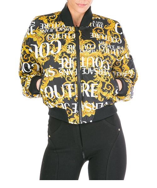 Bomber Versace Jeans Couture logo baroque ee5hua975-e25055_e899 nero