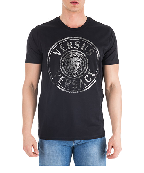 Men's short sleeve t-shirt crew neckline jumper regular lion head