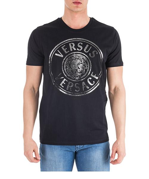 T-shirt Versus Versace Lion Head BU90787-BJ10388_B7930 nero - argento