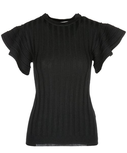 T-shirt Victoria Beckham KNTVV087NERO nero