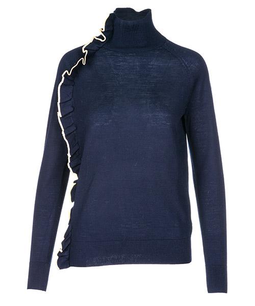 Maglione collo alto Victoria Beckham KNTVV098 blu