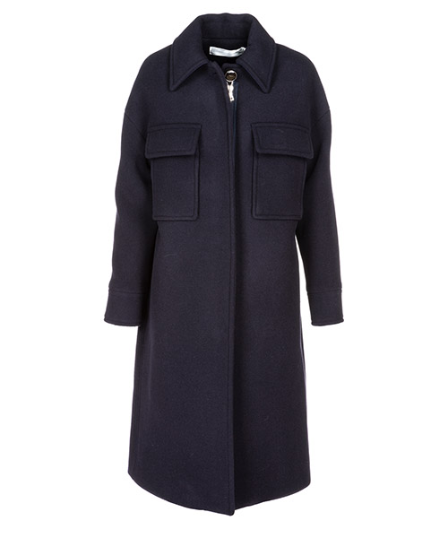 Cappotto Victoria Victoria Beckham CTVV057B blu