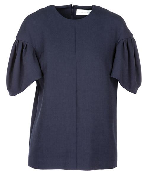 T-shirt Victoria Victoria Beckham Tuck Sleeve TPVV145B blue