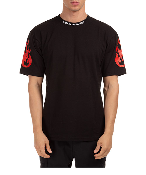 Herren t-shirt kurzarm kurzarmshirt runder kragen rock secondary image