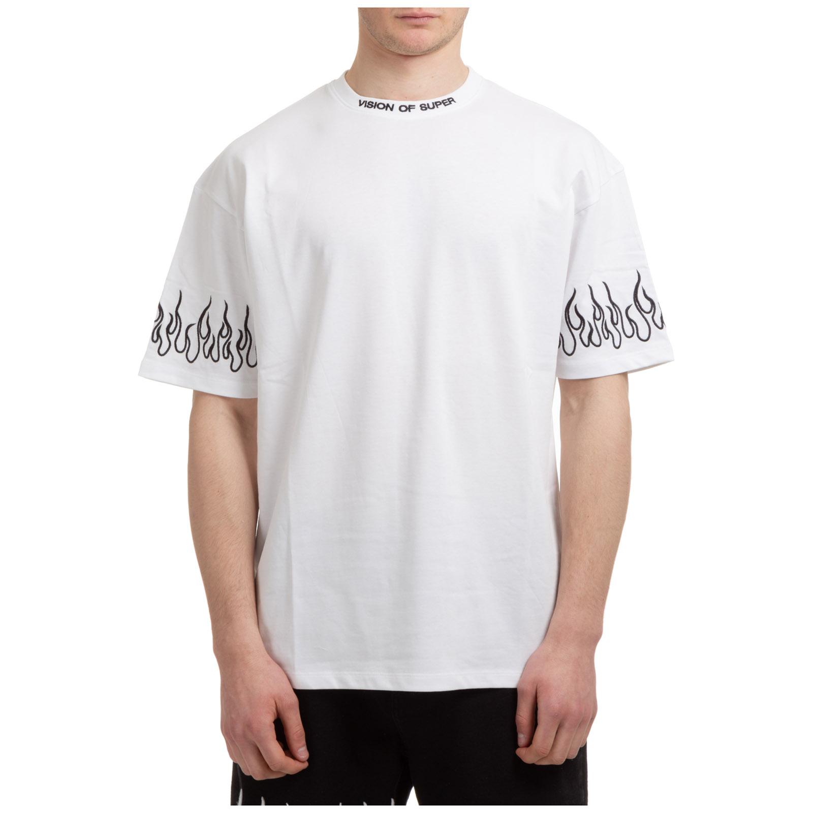 T-shirt maglia maniche corte girocollo uomo flames