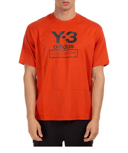 T-shirt Y-3 logo fj0411 arancione