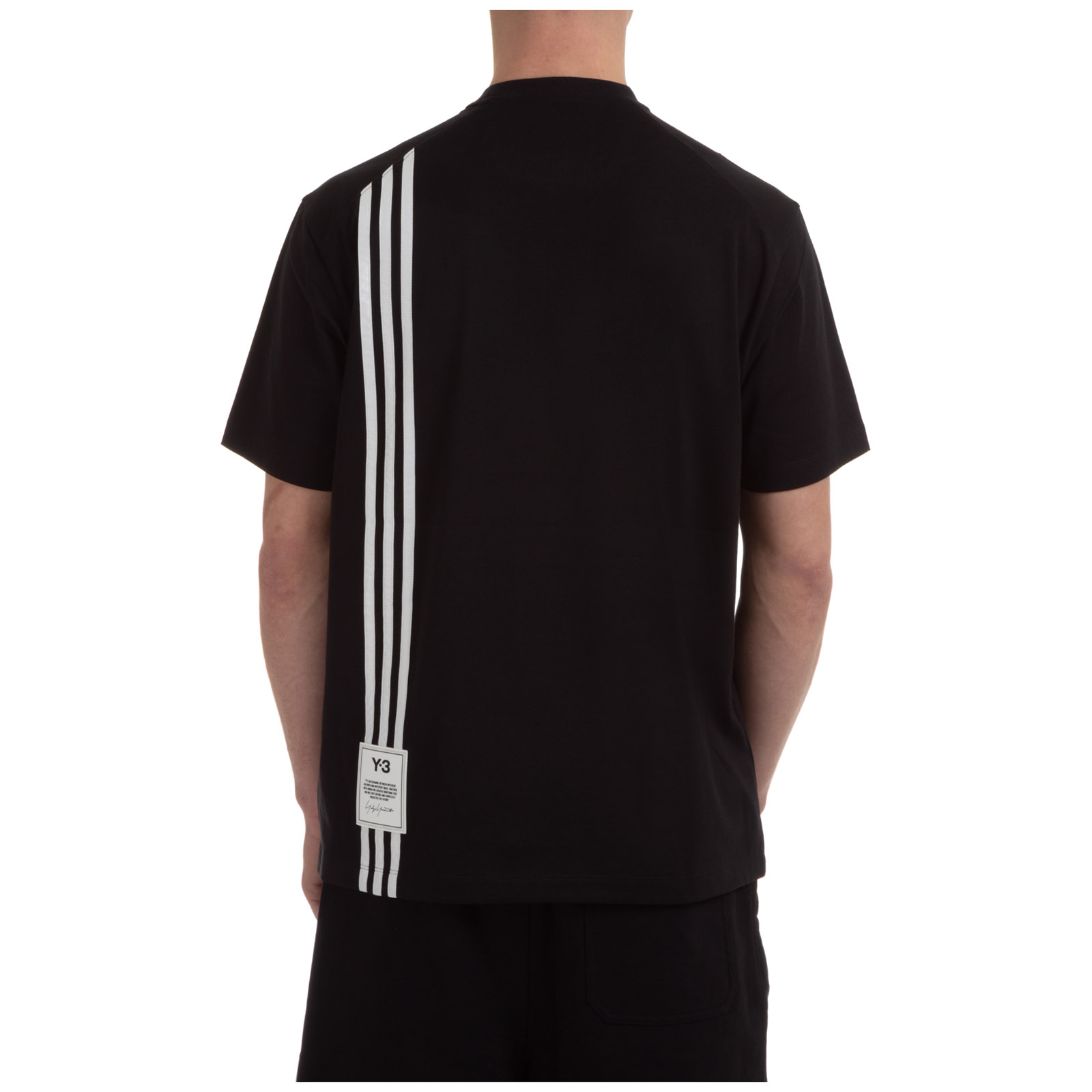 Y-3 MEN'S SHORT SLEEVE T-SHIRT CREW NECKLINE JUMPER