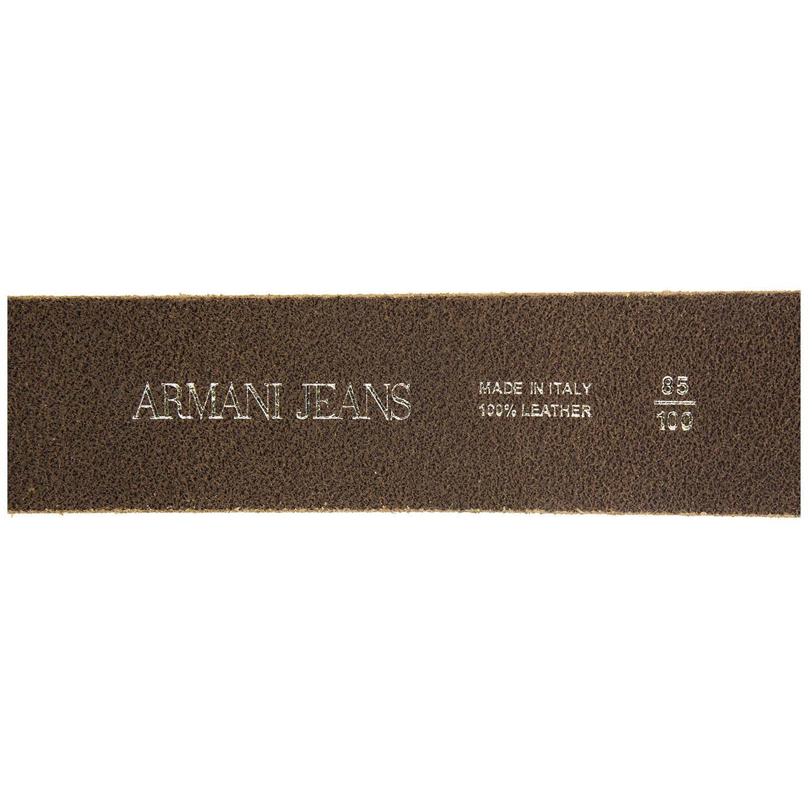 Men's genuine leather belt  placca