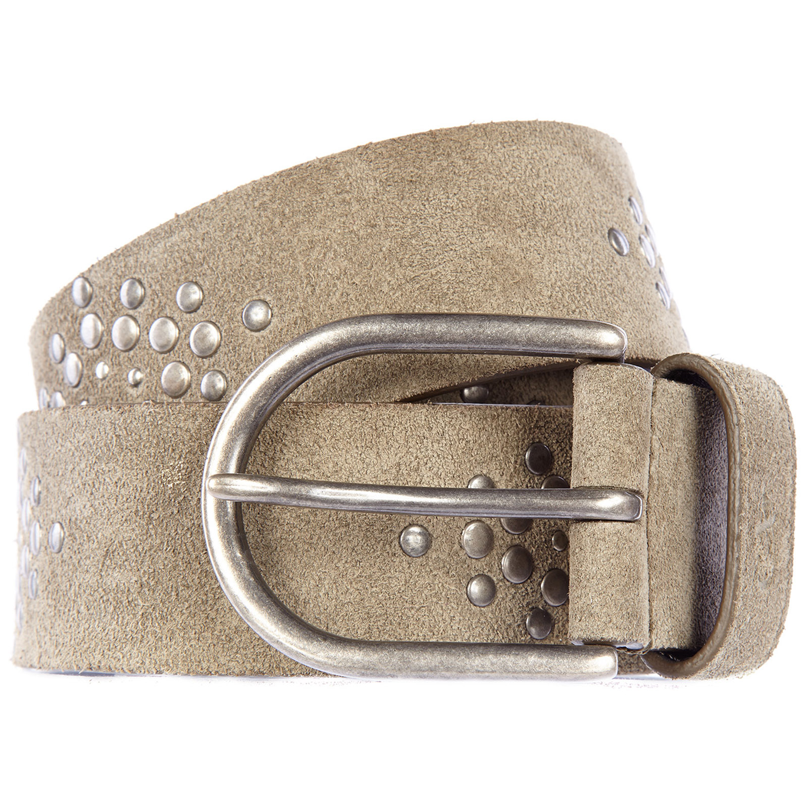 Cintura uomo vera pelle vintage rond studs