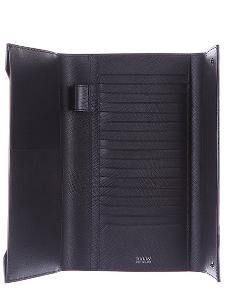 Wallet genuine leather cheque book balmhorn canvas coated secondary image