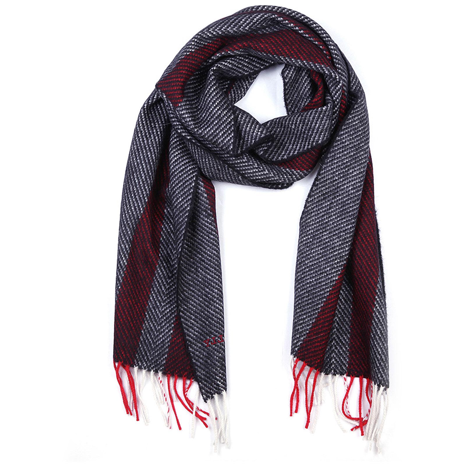 Men's wool scarf multi bone jacquard