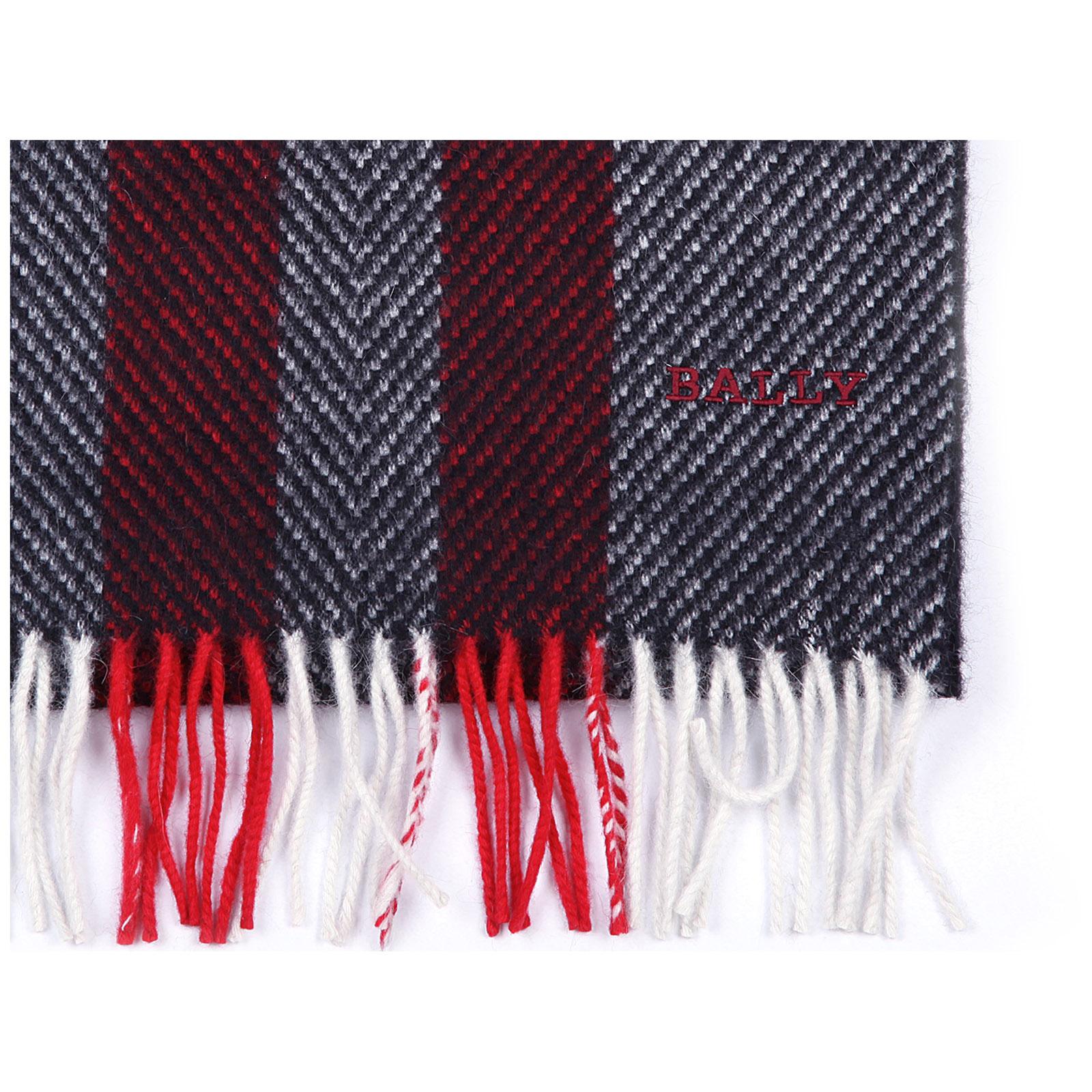 Bufanda de hombre en lana multi bone jacquard