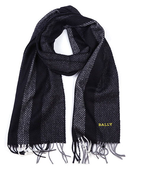 Wool scarf Bally 6199214 00020 nero