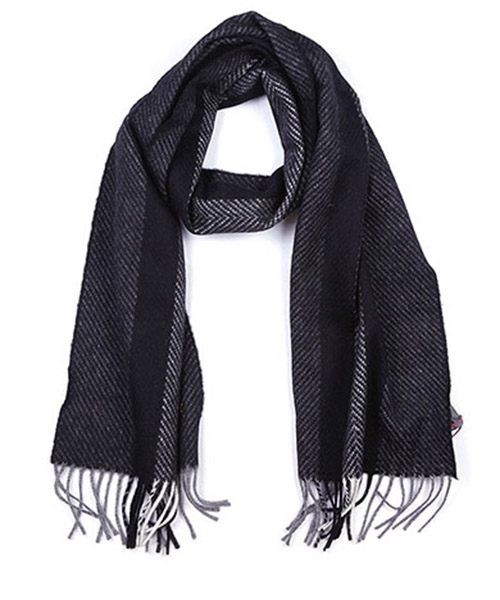 Men's wool scarf multi slate jacquard secondary image