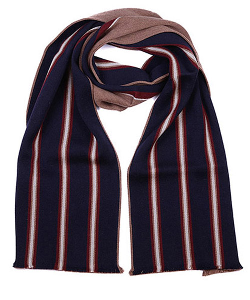 Men's wool scarf multitabacco printed secondary image