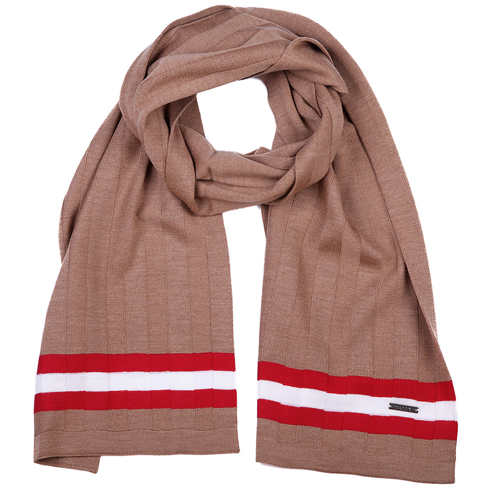 Men's wool scarf camel knits