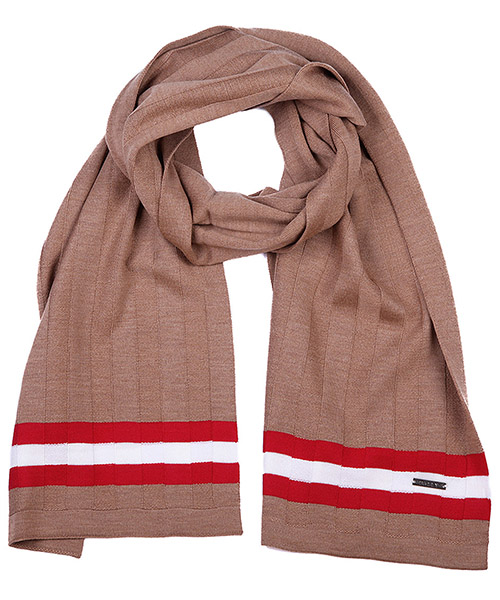 Wool scarf Bally 6199281 00118 marrone