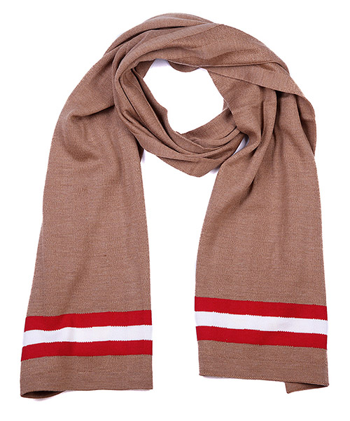Men's wool scarf camel knits secondary image