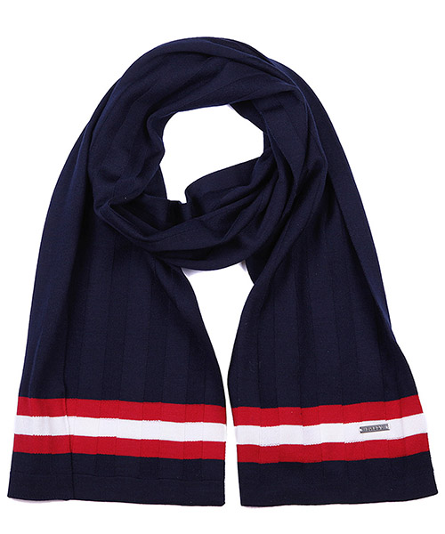 Wool scarf Bally 6199282 00223 blu