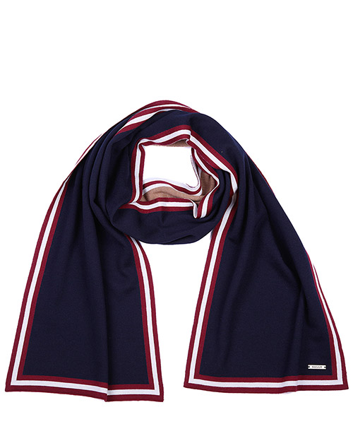 Wool scarf Bally 6199287 00022 blu