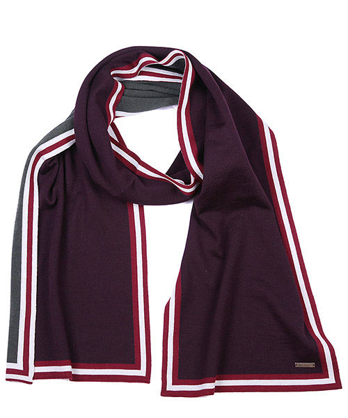 Шерстяной шарф Bally 6199289 00022 bordeaux