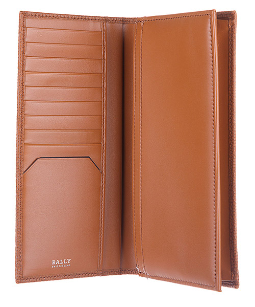 Men's wallet leather coin case holder purse card bifold neall calf embossed secondary image