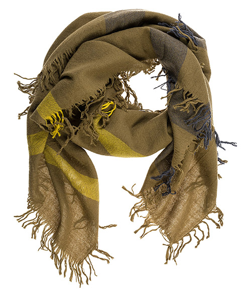 Wool scarf Burberry 38844081 olive brown