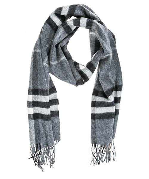 Кашемировый шарф Burberry Tartan 39942071 grigio