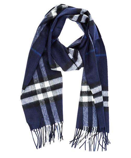 Bufanda de cachemira Burberry Tartan 39943061 indigo blue