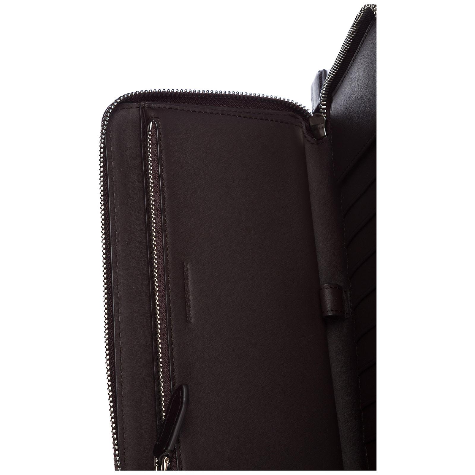 6027fa7ae4d ... Men s wallet coin case holder purse card bifold london check zip around