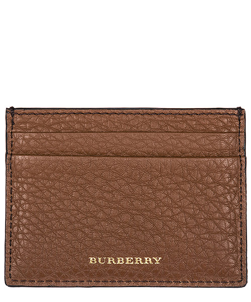 Porta carte di credito Burberry Sandon 40619901 chestnut brown