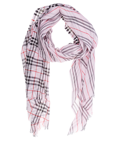 Wool scarf Burberry 80146601 rosa