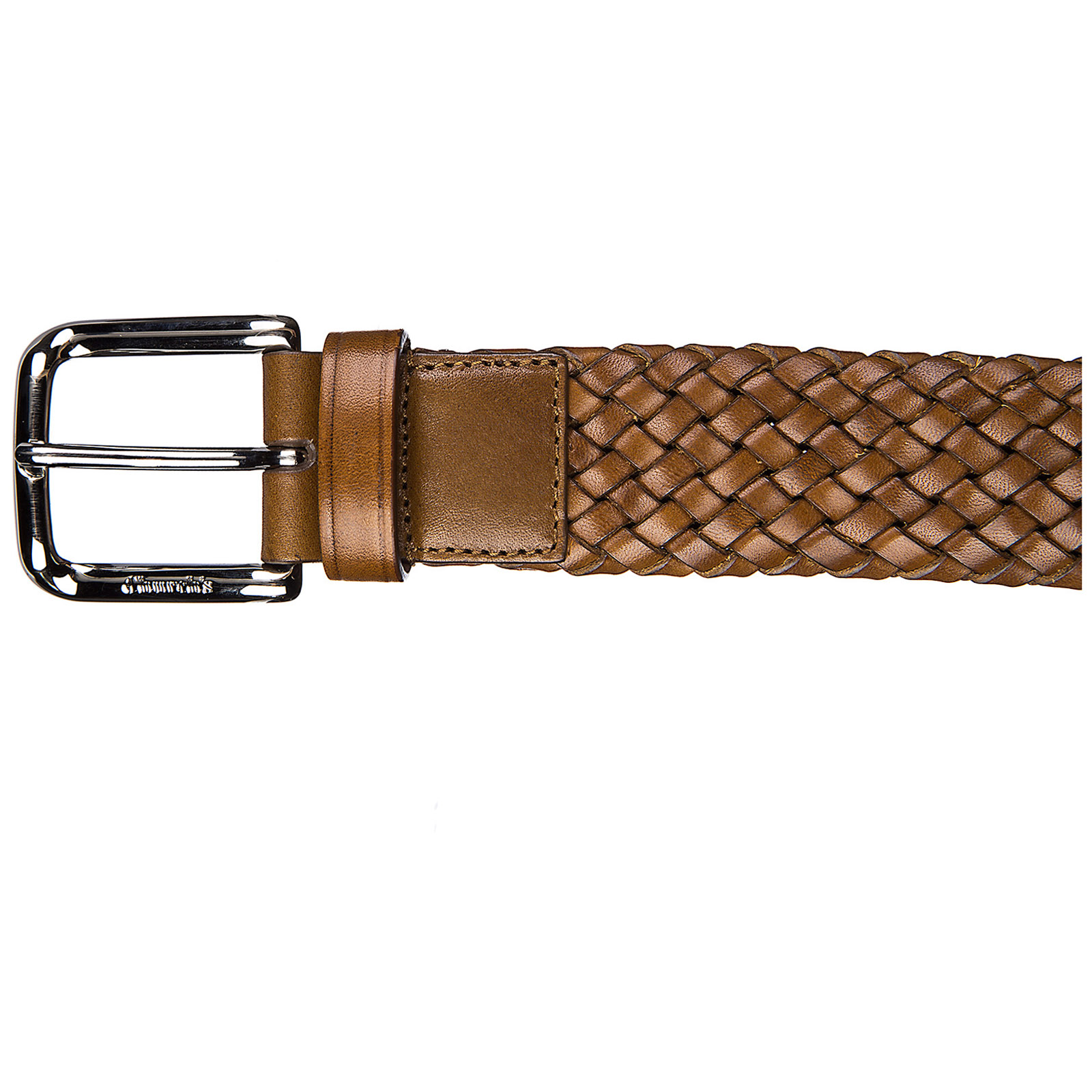 Men's genuine leather belt  weave