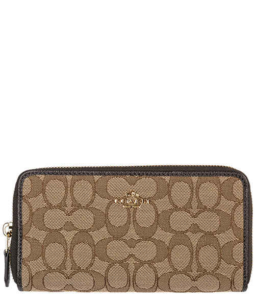 Billetera Coach 58058 khaki brown
