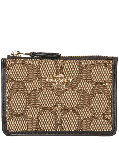 Credit card holder Coach 64435 marrone