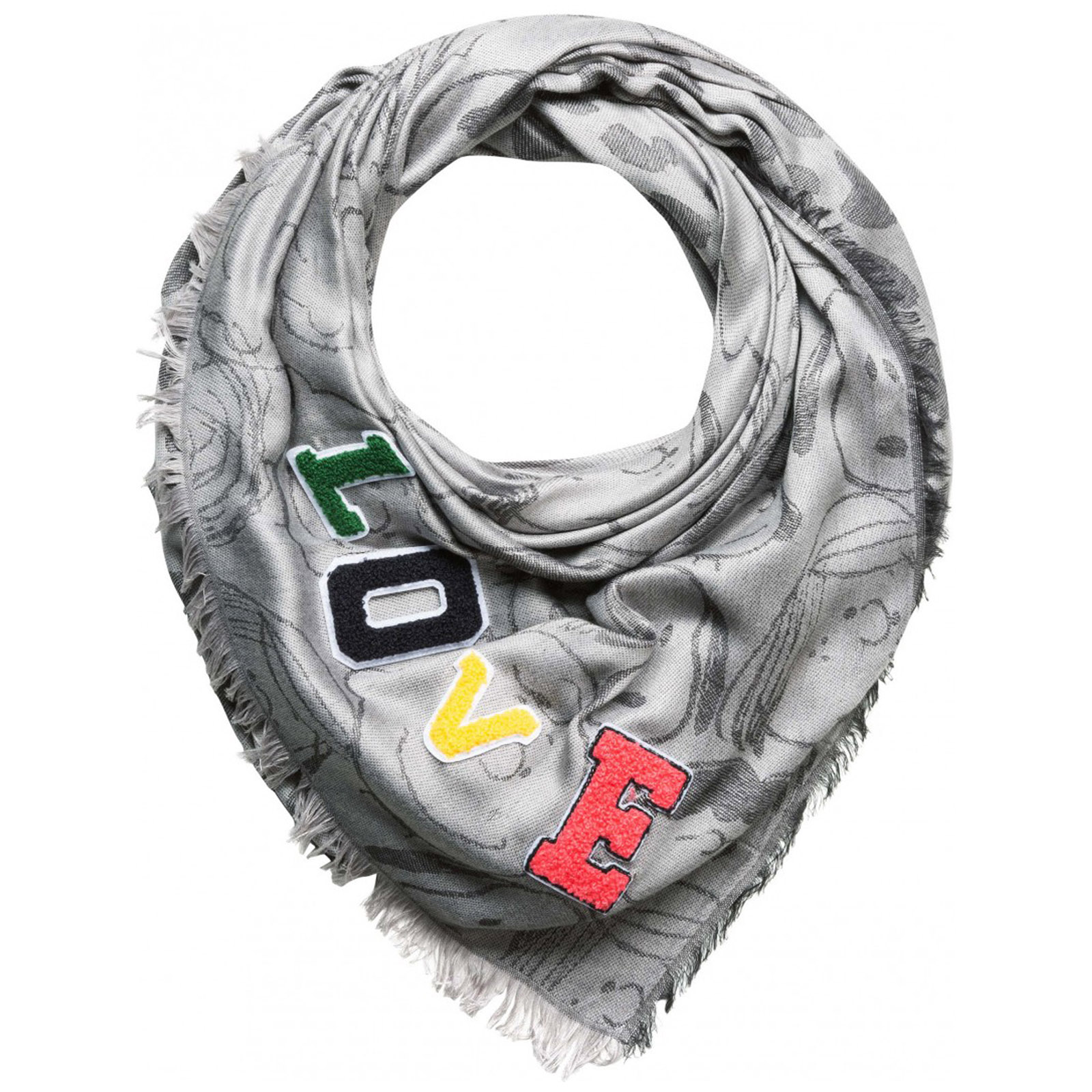 Women's scarf jacquard peanuts snoopy
