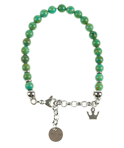 Bracelet agata vert secondary image