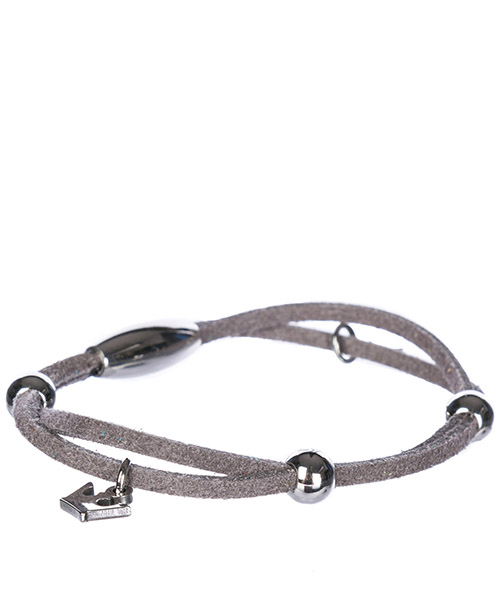Men's leather bracelet alcantara secondary image