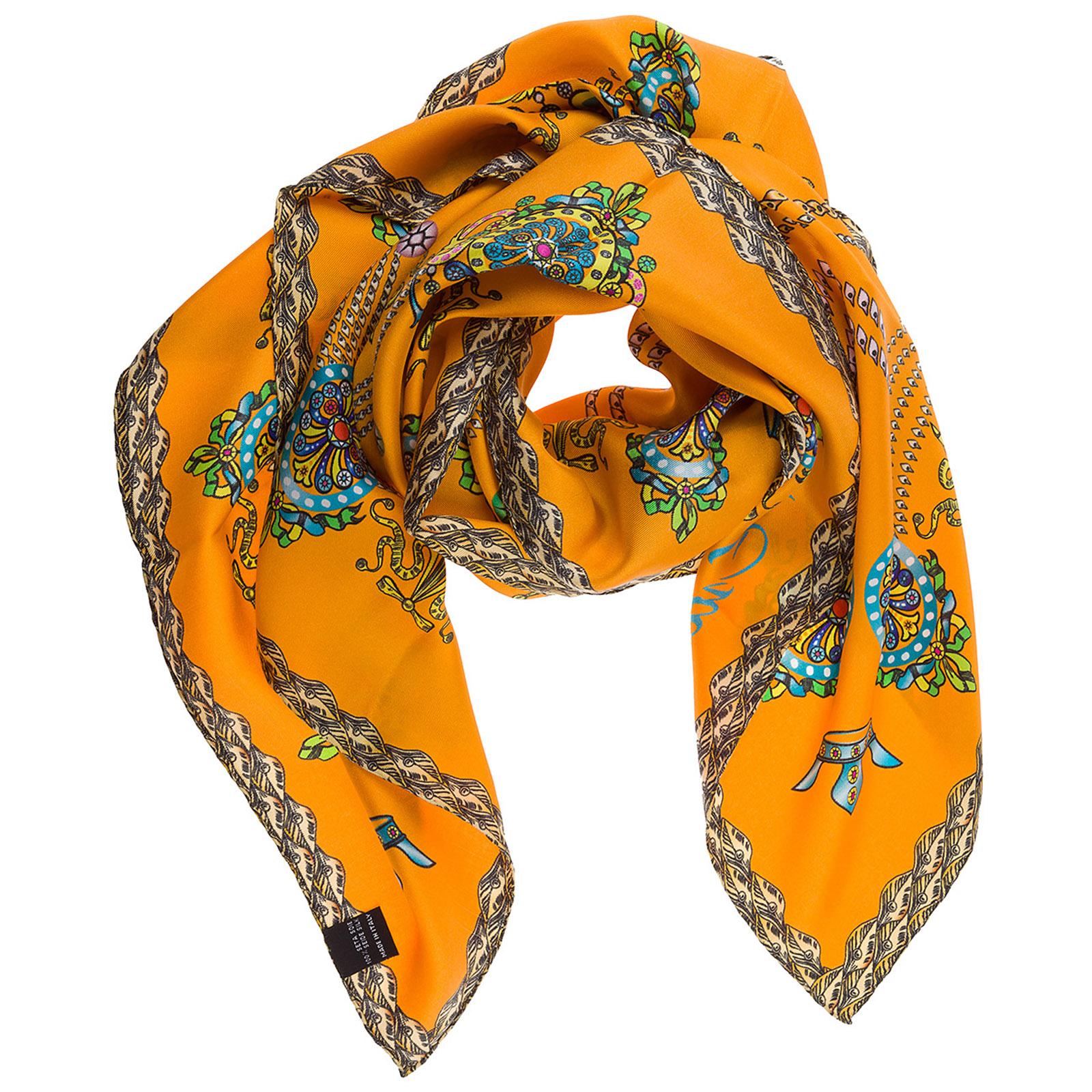 Seidentuch tuch damen seidenschal foulard kopftuch corona