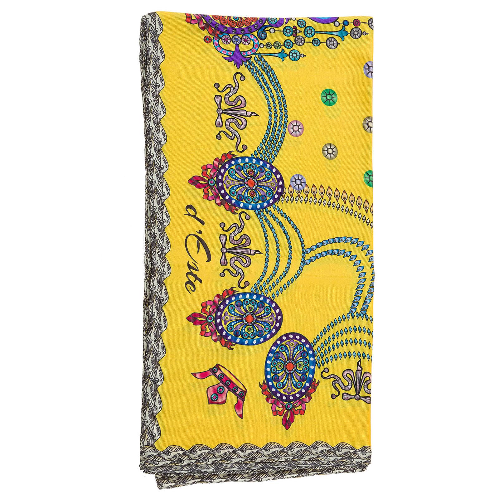Pañuelos fulares bufanda de mujer en seda corona