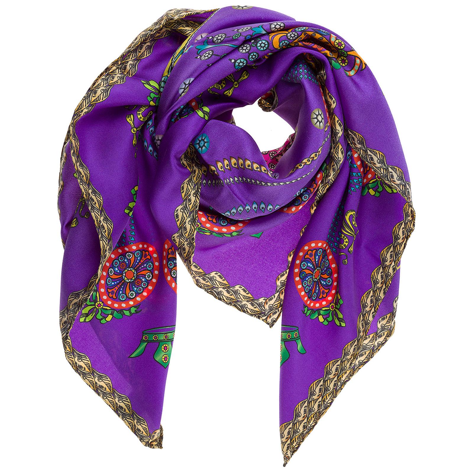 Women's silk foulard scarf corona