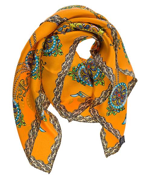 Foulard en soie d Este CORONA arancione
