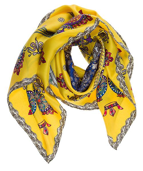 Silk foulard d'Este Corona CORONA giallo