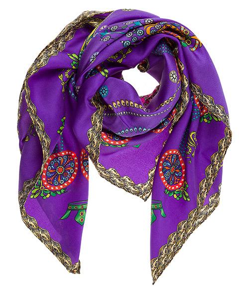 Silk foulard d'Este Corona CORONA viola