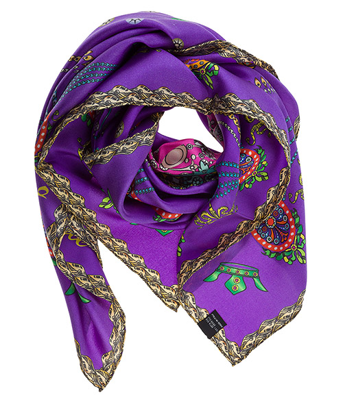 Women's silk foulard scarf cgoldna secondary image