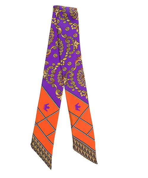 Silk foulard d'Este TWILL arancione