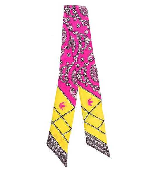 Silk foulard d'Este TWILL fuchsia