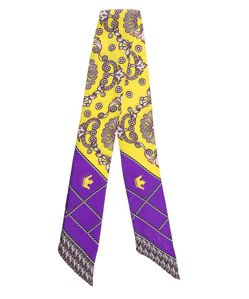 Silk foulard d'Este TWILL viola