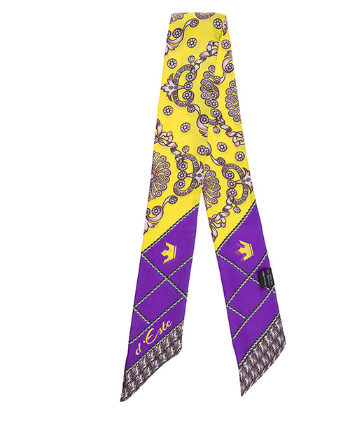 Women's silk foulard scarf twill secondary image